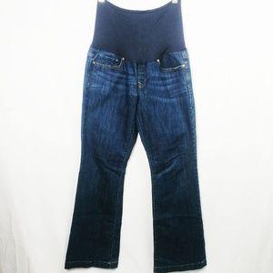 Gap 1969 Sz 12/31 Dark Wash Maternity Jeans EUC C